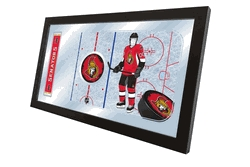 Ottawa Senators Hockey Rink Mirror-rink Mirror - Mrinkottsen - Hockey Nhl Hockey Ottawa Senators Garden Flags MRINKOTTSEN