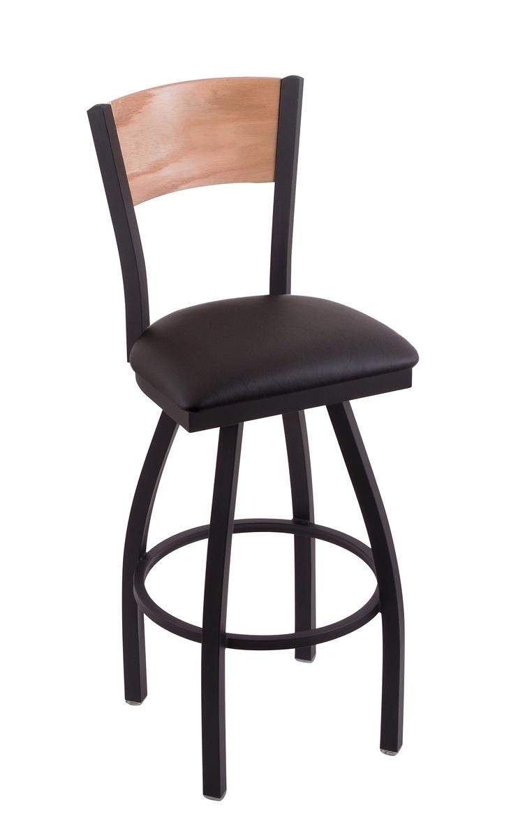 Utah State Bar Stool-l038 - L03830bwmedmplautahstblkvinyl - Chairs Table College Stool L03830BWMEDMPLAUTAHSTBLKVINYL