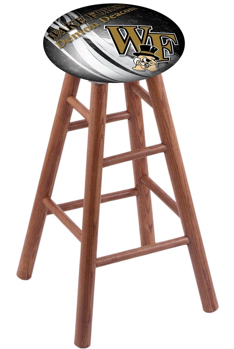 Wake Forest Stool-rcosmed - Rc18osmedwakefr-d2 - Collegiate Sports Ncaa College Wake Forest Wake Demon Deacons Bath RC18OSMEDWAKEFR-D2