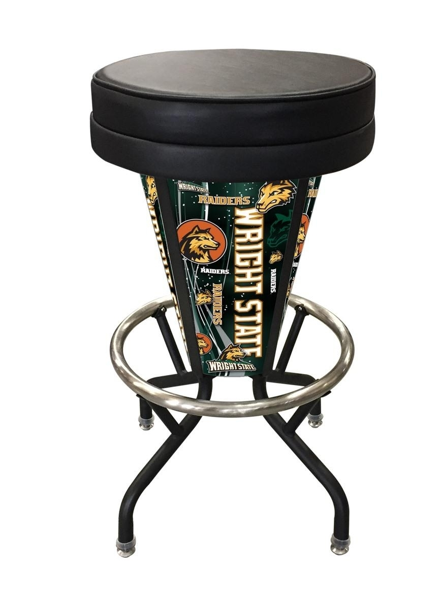 Wright State Lighted Bar Stool-l5000 - L500030wrtstublkvinyl - Chairs Table College Stool L500030WRTSTUBLKVINYL