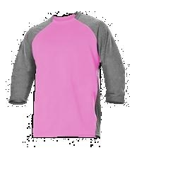 Adult Baseball Game Or Training Jersey ; Pink - 509tj-pihe - Tennis Little Miss Tennis: Girls Tennis Jackets Clothing Pretty Pink & White Collection For Girls 509TJ-PIHE