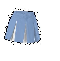 Womens Cheerleading Multi Pleat Skirt ; Columbia Blue - C201m-cbwh - Tennis Womens Apparel Skirts & Skorts Bluefish Sport C201M-CBWH