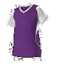 Womens Fastpitch Jersey ; Purple - 550jw-puwh - Activewear Jerseys 550JW-PUWH