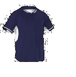 Youth 2 Button Baseball Jersey ; Navy - 524pdy-nawh - Activewear Jerseys 524PDY-NAWH