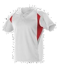 Youth 2 Button Henley Baseball Jersey ; White - 529y-whscgr - Activewear Jerseys 529Y-WHSCGR