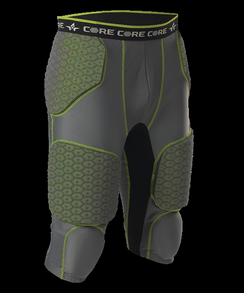Youth Integrated 7 Padded Football Girdle ; Charcoal - 7sipgy-chli - Protective Gear Girdles 7SIPGY-CHLI