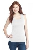 District-juniors 2x1 Rib Tank - Dt210-white - Clothing District DT210-WHITE