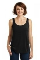 New District Made Ladies Drapey Tank - Dm414-black - Tennis Womens Apparel Shirts Tops & Jersey Colorado Clothing DM414-BLACK
