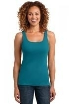 District Made Ladies Mini Rib Racerback Tank - Dm403-teal - Clothing Shirts And Tops DM403-TEAL