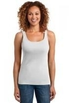 District Made Ladies Mini Rib Racerback Tank - Dm403-white - Clothing Shirts And Tops DM403-WHITE