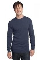 District-young Mens Long Sleeve Thermal - Dt118-navyheather - Tennis Mens Apparel Pants J Sun 7 Men DT118-NAVYHEATHER