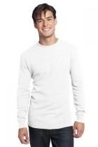 District-young Mens Long Sleeve Thermal - Dt118-white - Tennis Mens Apparel Pants J Sun 7 Men DT118-WHITE