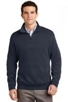 Port Authority Flatback Rib 1/4-zip Pullover - F220-navy - Shirts And Tops F220-NAVY