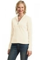 Port Authority Ladies Flatback Rib Full-zip Jacket - L221-ivory - Shirts And Tops L221-IVORY