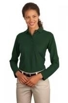 "Port Authority Ladies Long Sleeve Silk Touch"" Polo - L500ls-darkgreen - Tennis Womens Apparel Shirts Tops & Jersey Polo Ralph Lauren L500LS-DARKGREEN"