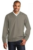 Port Authority Zephyr V-neck Pullover - J342-stratusgrey - Basketball Portable Backstop Systems J342-STRATUSGREY