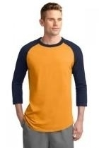 Sport-tek Colorblock Raglan Jersey - T200-gold-navy - Clothing Shirts And Tops Sport-tek T200-GOLD-NAVY