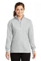 Sport-tek Ladies 1/4-zip Sweatshirt - Lst253-athleticheath - Clothing Shirts And Tops Sport-tek LST253-ATHLETICHEATH