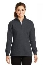Sport-tek Ladies 1/4-zip Sweatshirt - Lst253-graphiteheath - Clothing Shirts And Tops Sport-tek LST253-GRAPHITEHEATH