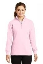 Sport-tek Ladies 1/4-zip Sweatshirt - Lst253-pink - Clothing Shirts And Tops Sport-tek LST253-PINK