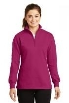 Sport-tek Ladies 1/4-zip Sweatshirt - Lst253-pinkrush - Clothing Shirts And Tops Sport-tek LST253-PINKRUSH