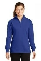 Sport-tek Ladies 1/4-zip Sweatshirt - Lst253-trueroyal - Clothing Shirts And Tops Sport-tek LST253-TRUEROYAL