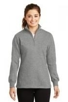 Sport-tek Ladies 1/4-zip Sweatshirt - Lst253-vintageheathe - Clothing Shirts And Tops Sport-tek LST253-VINTAGEHEATHE